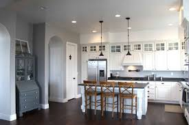 Kitchen:Modern Country Kitchen Cabinets And Countertops Design With Granite  Material And Contemporary Pendant Futuristic