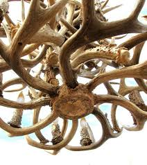 how to make antler chandelier