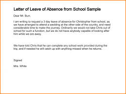 absence note for school letter of leave of absence from school sample 212 1