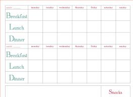 020 Meal Planning Calendar Template Cushty Diet Plan In Belle La Vie