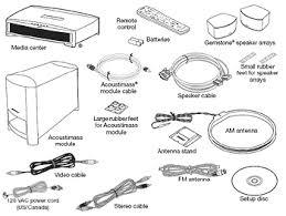 bose 321. bose 3·2·1 gsx home entertainment system contents 321