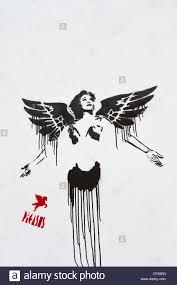 Stenciling Spray Paint Spray Paint Stencil By Graffiti Artist Pegasus Near Brick Lane Stock