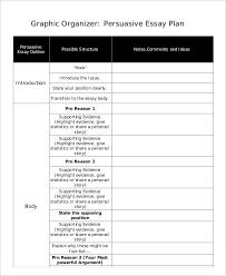 essay plan templates sample example format  persuasive essay plan