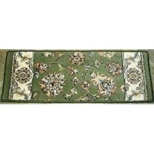 premium stair tread set of treads x 9 ancient garden collection rug depot traditional runner green background 13 bullnose carpet