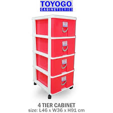 plastic storage cabinet. Simple Plastic 8034 TOYOGO  PLASTIC STORAGE CABINETDRAWER WITH WHEELS 4 For Plastic Storage Cabinet