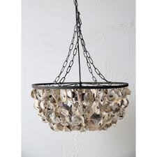oyster shell two light pendant chandelier
