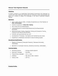 Software Tester Resume Sample Testing Resume format Beautiful Resume format for software Testing 91