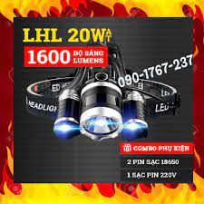️️ Đèn Pin Đội Đầu 3 Bóng Led T6- Siêu Sáng, Kèm 2 Pin, Kèm Sạc Đèn pin  siêu sáng 4 chế độ tại Hà Nội
