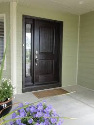 front door with sidelitesMadison glass insert by ODL Tea stained single entry door with