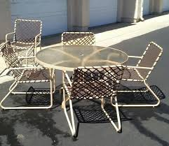 brown jordan lido patio set table