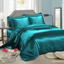 6 piece satin duvet set cover fitted