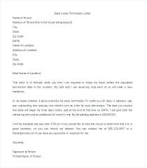 Sample Letter To Landlord To Terminate Lease Early Free Notice Of Lease Termination Letter From Landlord To Tenant