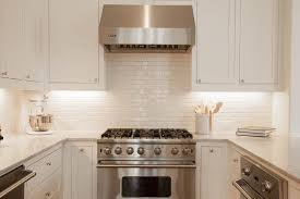 white glazed kitchen backsplash tiles