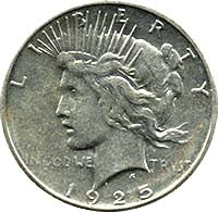 1925 Peace Dollar Value Cointrackers