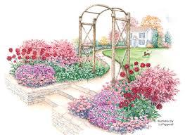 flowery fall garden garden gate