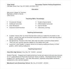 Sample Resume For Teachers Job Sample Of Teaching Resume Airexpresscarrier Com
