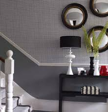 Wallpapered office home design Scandinavian Houndstooth Wallpapered Entryway Real Simple 24 Fabulous Wallpaper Designs Real Simple