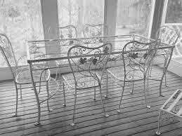 white wrought iron garden furniture. 1326 Best Vintage Wrought Iron Patio Furniture Images On Pinterest Garden Antique White