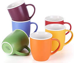 This list of the best coffee mugs has something for every kind of coffee drinker. Amazon Com Lifver 18 Ounces Coffee Mugs Large Porcelain Cups For Coffee Tea Cocoa Set Of 6 Multi Colors Coffee Cups Mugs