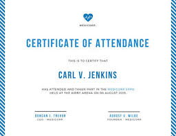 Minimalist Conference Attendance Certificate Templates By Canva