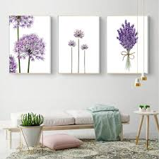 2018 cuadros lavender flowers wall art poster modern canvas painting green posters and prints pictures for living room scandinavian from aliceer