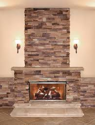 finished stone veneer fireplace
