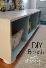 diy storage furniture. DIY Storage Bench. Use Simple Tools And Materials To Build Your Own Cabinet For Living Room. Keep Home Organized With Simple, Yet Polished Diy Furniture E