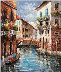 venice oil painting venice oil paintings cities oil painting red