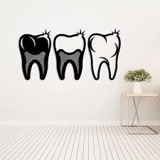 metal wall art dental silhouettes