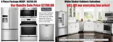 4 Piece Kitchen Appliance Set White Shaker Cabinets Maytag Ss Appliance Sale Under 10k