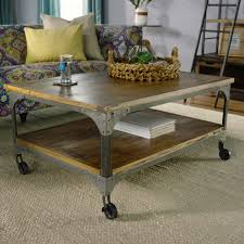 wood and metal aiden coffee table world market intended for aiden coffee tables image