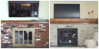 fireplace update before after