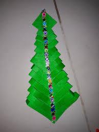 Christmas Tree In Chart Paper Christmas Tree Paper Craft Babytwishastyle