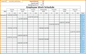 Monthly Planner Excel Monthly Planner Excel Templates Employee Schedule Template 2 Free