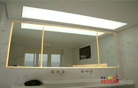 bathroom lighting solutions. Stretch Ceiling Ltd-Domestic Bathroom With Back Lighting Image Solutions