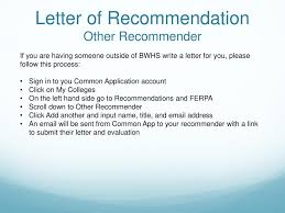 How Do You Sign A Letter Of Recommendation Seniors Planning For Life After High School Ppt Download