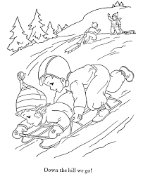 Small Picture Kids Snow Fun coloring Page Seasons of the Year Coloring Pages