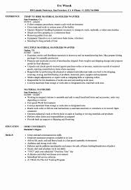 Baggage Handler Resume Material Handler Resume Luxury Material Handlers Resume Samples 9