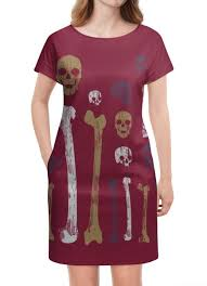 """Платье летнее """"Старые черепа и кости"""" от Franka - <b>Printio</b> ..."""