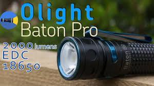 Обзор EDC <b>фонаря Olight Baton Pro</b> | 2000 люмен, XHP50, 18650 ...