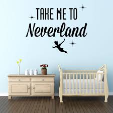 crazy peter pan wall art nursery take me to neverland e gorgeous for or