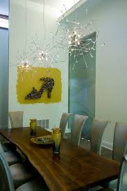 artsy lighting. Dining Rooms: Artsy Lighting Fixture Brings A Sparkling Festive Charm With It I