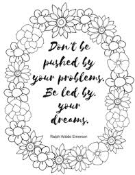 Coloring Page For Teachers Ralph Waldo Emerson Quote By