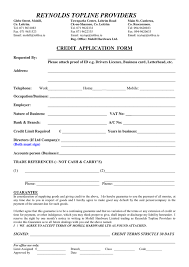 application for credit account template credit application form in word and pdf formats