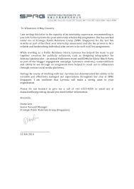 Letter Of Recommendation For Internship Recommendation Letter From Internship Sprg Singapore
