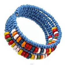 wood bangle bracelet wooden bracelet bracelet wooden las jewelry wood beads blue colorful spiral