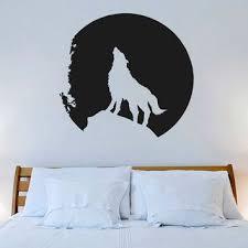 Decor Designs Decals Norman Ok Cool Wall Decal Vinyl Sticker Decals Art Decor Design Wolf Mooon Night