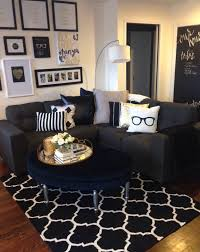 Mini living room redo Classic black white and gold with pops  1st ApartmentApartment  LivingApartment IdeasCute