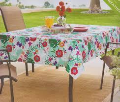umbrella tablecloth with zipper 70 round outdoor bright fl fabric print