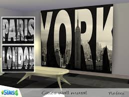 cities wall mural on the sims resource sims 3 wall art with neferu s cities wall mural